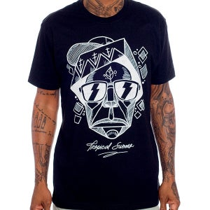 Image of The Tropical Totem Tee - Black