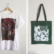 Image of Keepsafe 'Gradient' Tee + 'Green & White' Tote Bag BUNDLE