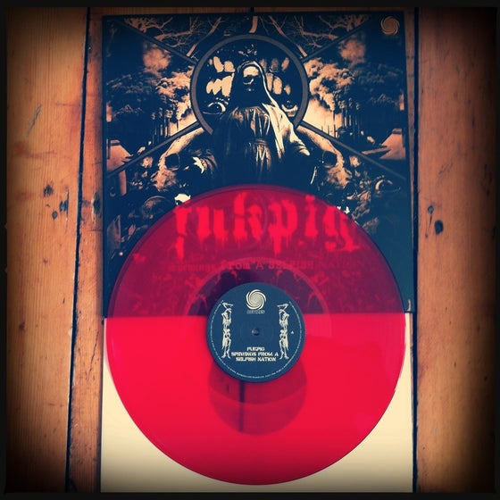 Image of Fukpig - Spewings - clear red vinyl