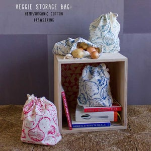Image of Veggie storage bag hemp/organic cotton