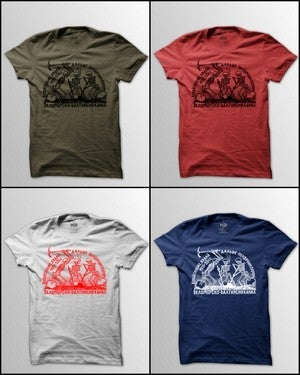 Image of MIR002 SKELETON GULAG CREW T-Shirt (7 COLORS)