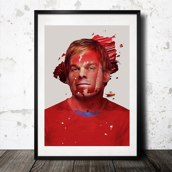 Image of Michael C. Hall inspired Poster Print