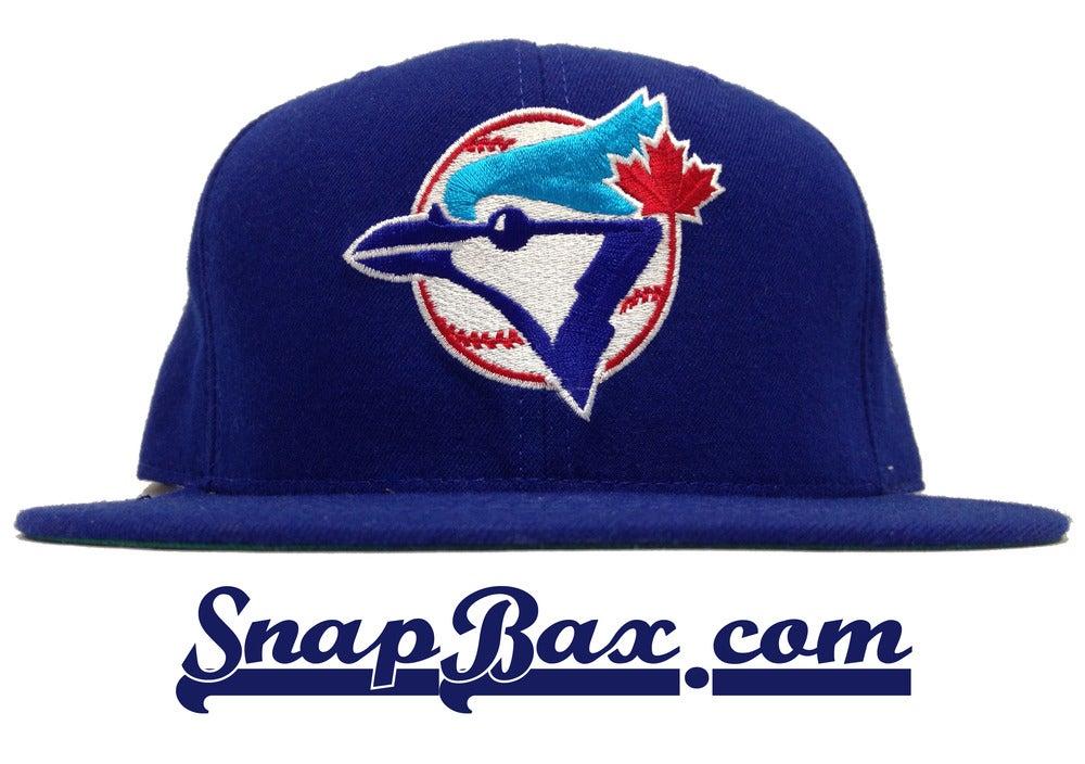 Image of Vintage Deadstock Toronto Blue Jays New Era Blue Snapback Cap