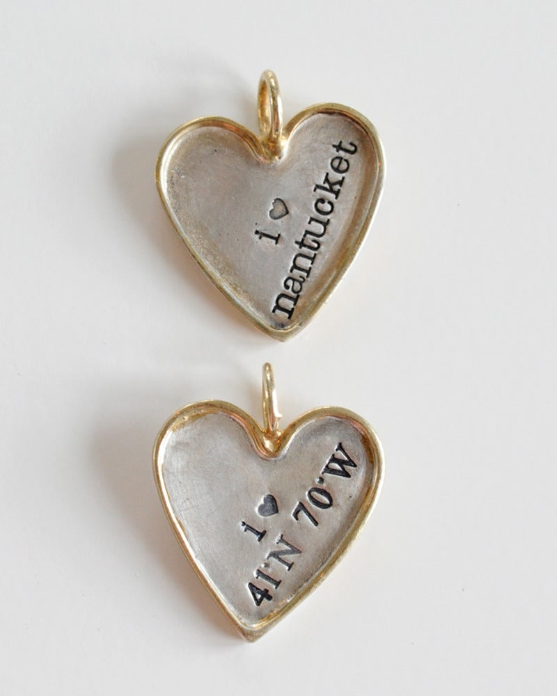 Gold rimmed heart nantucket by the sea for Nantucket by the sea