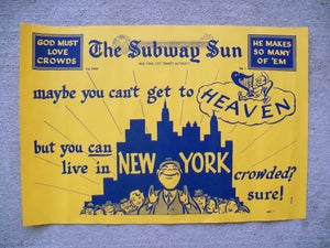 Image of Vintage 1950s New York Subway Sun Advertisement Volume 23, #1: 19x13 inches.