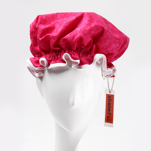 Image of Showercap mottled hot pink - regular size