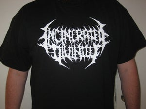 Image of Incinerated Divinity White Logo T-shirt