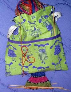 Image of sock knitting bag