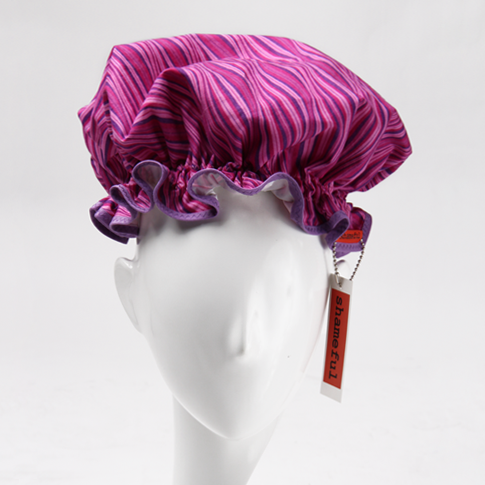 Image of Showercap pink and purple stripes - big size