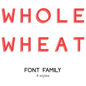 Image of Whole Wheat Font Family