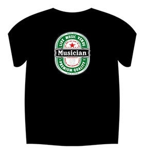 The musician venue heineken style t shirt black for Big cartel t shirts