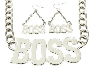 Image of I'm a Boss necklace set