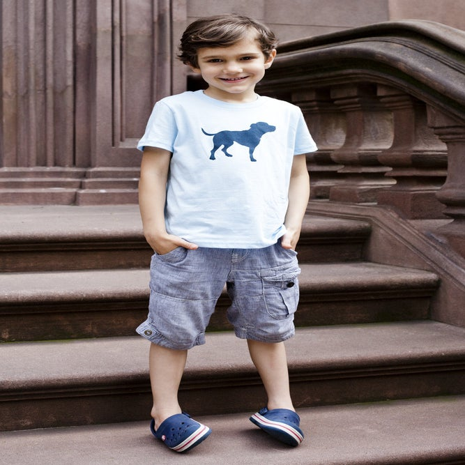 Image of kid's light blue tiny tim tee