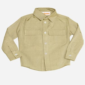 Image of Olive Flap Pocket Shirt
