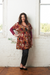 Image of Georgette Tunic Top - Spice Tones