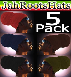 Image of Jah Roots Ready Wraps 5 Pack (Red, Navy, Black, Brown, & Olive)