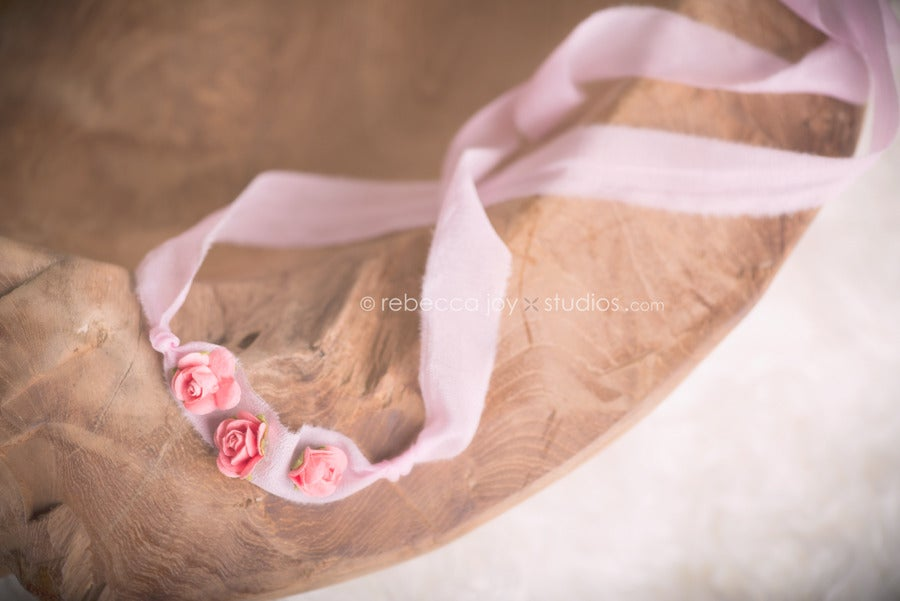 Image of {the Floral Lovely} Headband. Peach & Pink Colour
