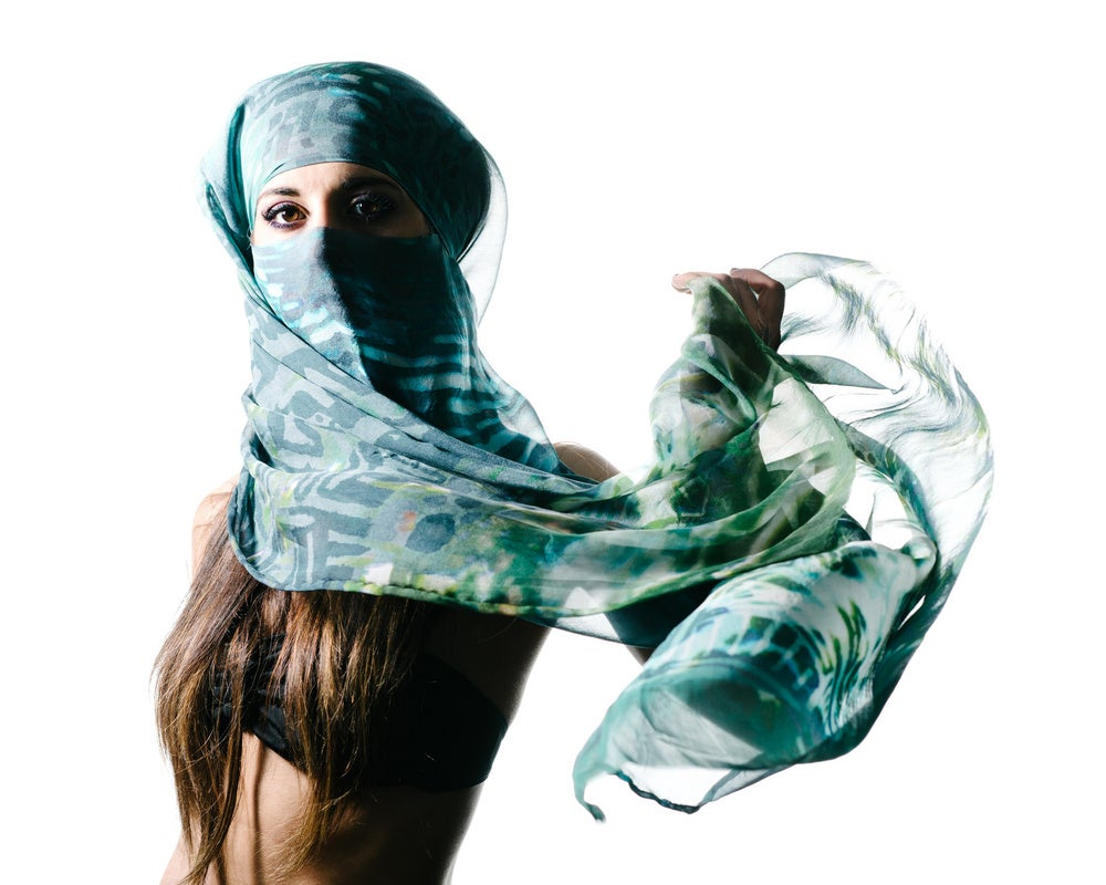 "Image of ""My Wilderness"" Chiffon Printed Scarf"