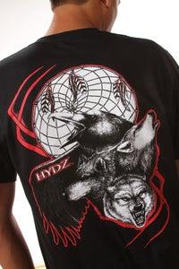Image of Wolf/Raven / Shirt - Black