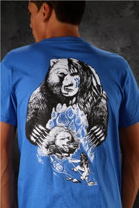 Image of Bear-Spear / Shirt - Blue