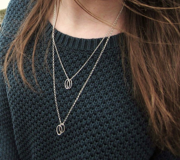 Image of 3D leaf necklace