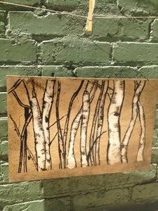 Image of Aspen Trunks (on wood)
