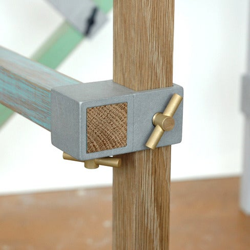 Image of ALEX 90 degree thru junction - natural finish - brass thumb screws