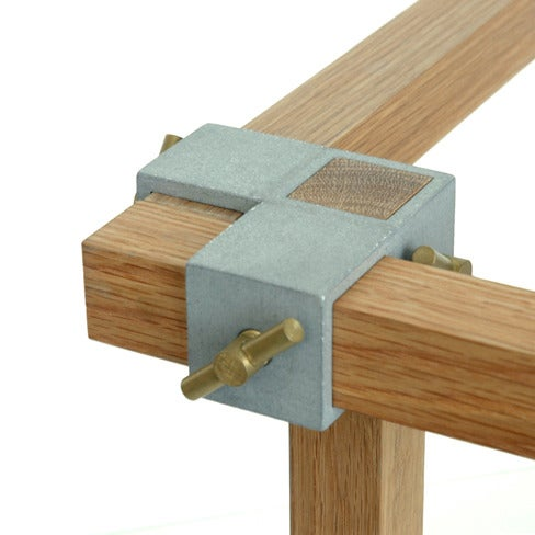 Image of ALEX 3-axis junction - natural finish - brass thumb screws