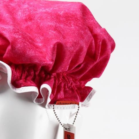 Image of Showercap mottled hot pink - regular size
