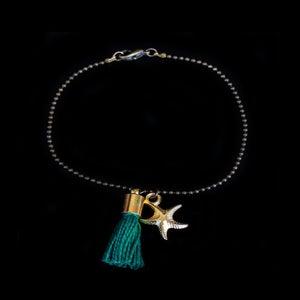 Image of Bracelet Pompon vert