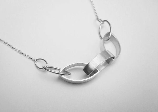 Image of Leaf Link Necklace