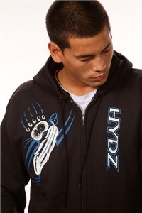 Image of Bear-Spear / Zip-Up Hoodie - Black