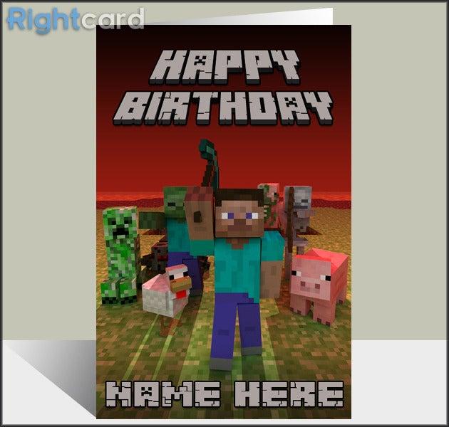 Crafting Card Minecraft
