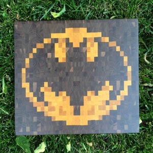 Image of Pixelated Bat Symbol Cutting Board
