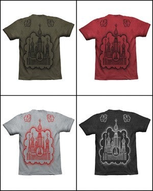 Image of MIR050 CUPID'S CATHEDRAL T-Shirt (7 COLORS)