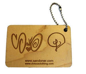 Image of SAND ONER X DVIOUS WOOD KEYCHAIN TAG