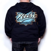 Image of BIG LEAGUE ZIP UP- BLACK