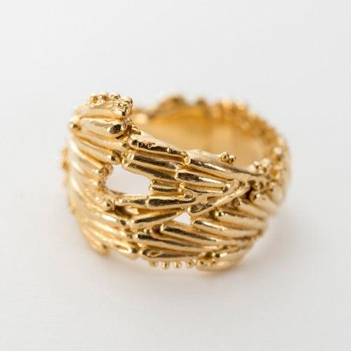 Image of Large Kelp Crown Ring.