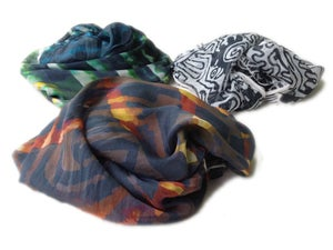 "Image of ""Climatic"" Chiffon Printed Scarf"