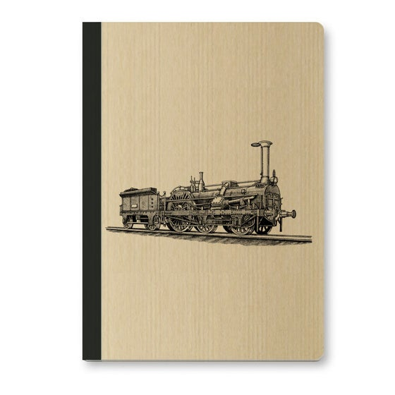 Image of Cahier A5 Locomotive couverture Kraft