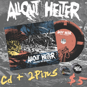 Image of Allout Helter - Sinking, We Regress - Debut Full Length (CD+2pins)