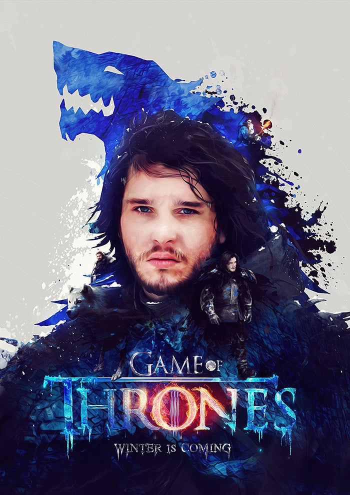 Image of Game of Thrones 'Winter is coming' Poster Print