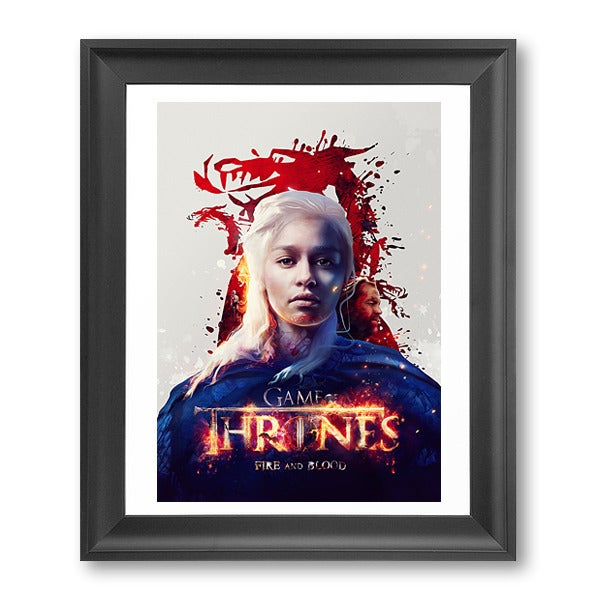Image of Game of Thrones 'Fire and Blood' Poster Print