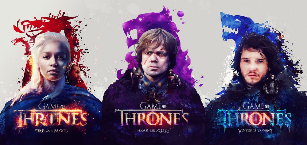 Image of Tv shows (series 2) Game of Thrones Poster set