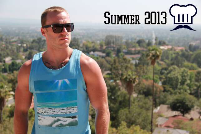 Image of Above the Clouds (MENS Shirt x Tank | Grey x Blue x White)