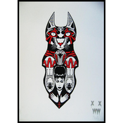 "Image of XWWX ""The Shrine Of Sekhmet"" (Ultra Enigma) Limited Screen Print"