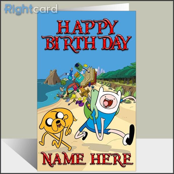 Custom Adventure Time Inspired Birthday Card