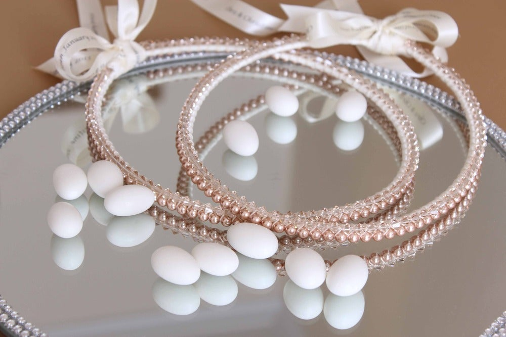 Image of Rose Gold Swarovski Pearl and Crystal Stefana