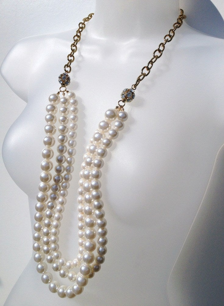 Image of Exclusive Statement Multi Pearl Necklace