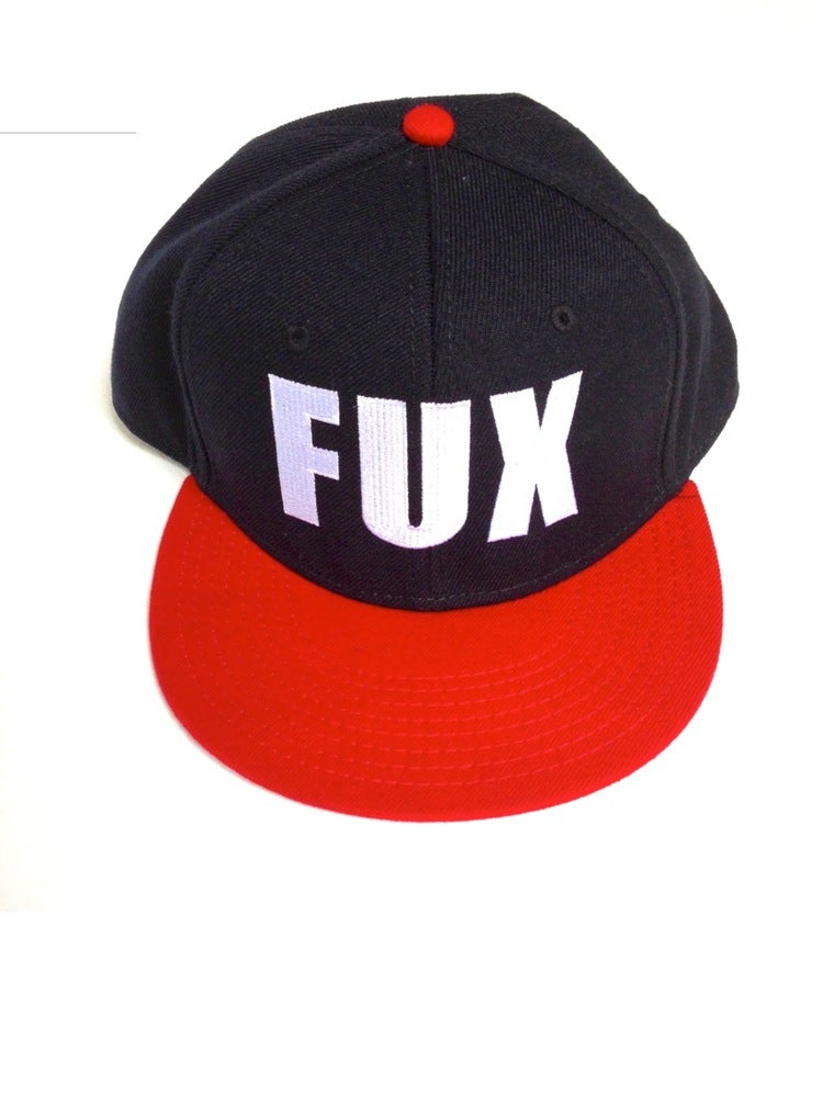 Image of Limited Edition FUX Black, White & Red Hat